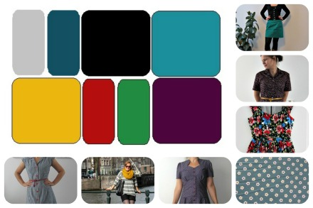 Colour palette Collage